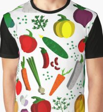 Vegetables pattern. Graphic T-Shirt