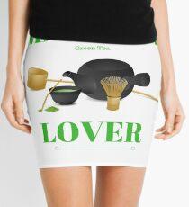 Matcha Green Tea Lover Mini Skirt