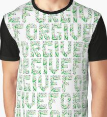 Floral FORGIVE pattern Graphic T-Shirt