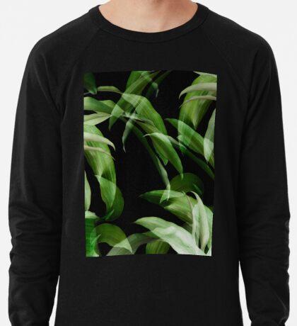 Tropische Blätter. grün und schwarz Leichter Pullover