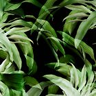 Tropical leaves. green and black by VanGalt