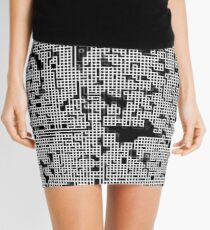Black and white lines 4 Mini Skirt