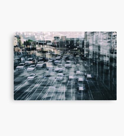 Parking Chaos Canvas Print