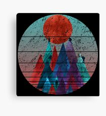Reach For The Sun - watercolor grunge Canvas Print