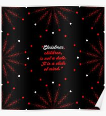 "Christmas children... ""Mary Ellen Chase"" Christmas Quote (Square) Poster"