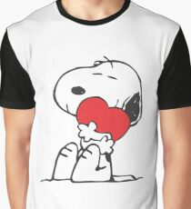 SNOOPY LOVE HUGGING Graphic T-Shirt