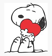 SNOOPY LOVE HUGGING Photographic Print