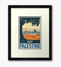 Vintage Travel Poster Visit Palestine Framed Print