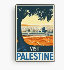 Vintage Travel Poster Visit Palestine Canvas Print