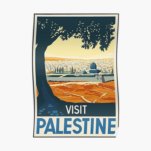 Vintage Travel Poster Visit Palestine Poster
