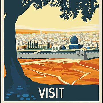 Vintage Travel Poster Visit Palestine by G-Design