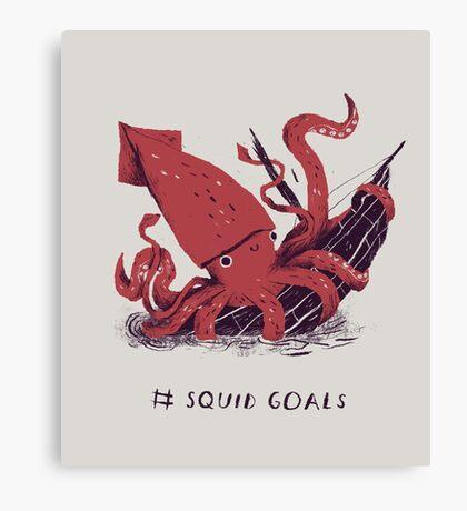 Squid Goals Canvas Print