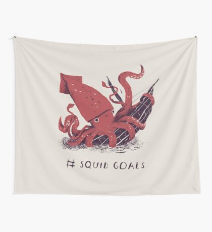 Squid Goals Wall Tapestry
