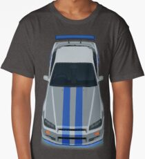 The Gray and Blue Long T-Shirt