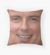John Barrowman Face Throw Pillow Throw Pillow