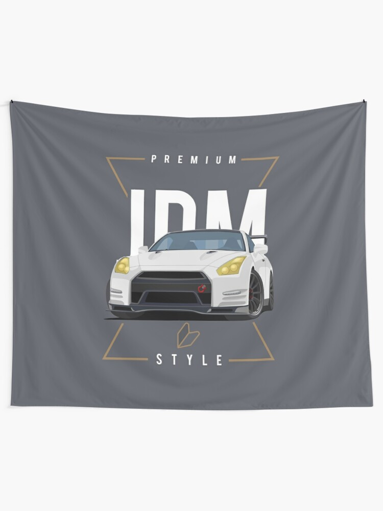Iconic Sports Car History Wall Art Poster Canvas Picture Blue Nissan Skyline