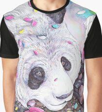 Panda Flowers Graphic T-Shirt