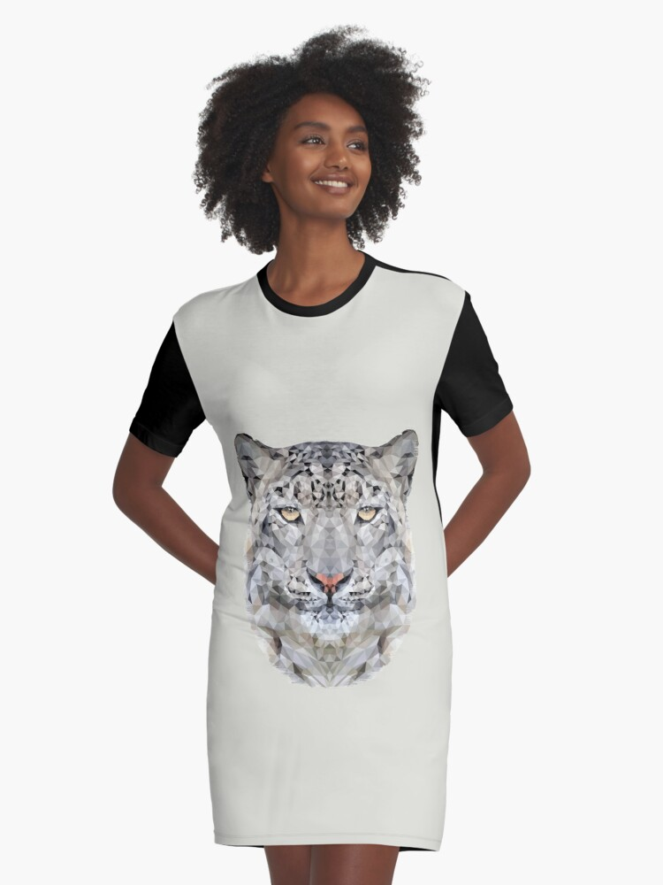 The Snow Leopard Graphic T-Shirt Dress Front