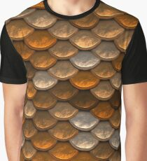 Shimmering  scale pattern in brown and copper tones Graphic T-Shirt