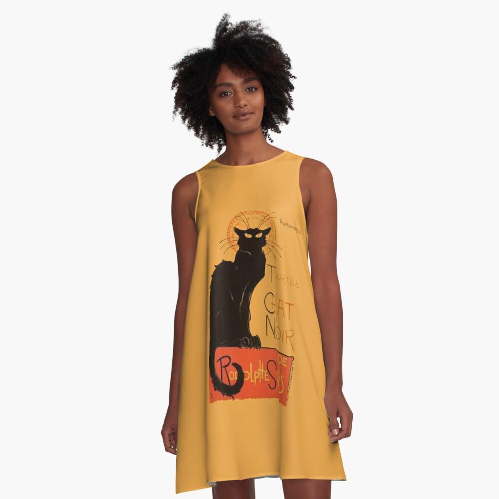 Tournee Du Chat Noir - Nach Steinlein A-Linien Kleid