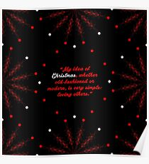 """My idea of... """"Bob Hope"""" Christmas Quote (Square) Poster"""