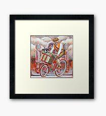 Tweed Runner on Red Pashley Framed Print