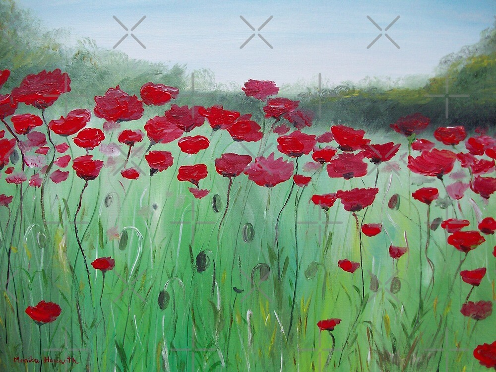 Poppy flowers by Monika Howarth