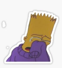Crying Bart Simpson Sticker