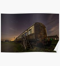 GWR Carriage at night Poster