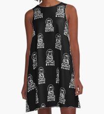 Bliss (Black/White)   A-Line Dress