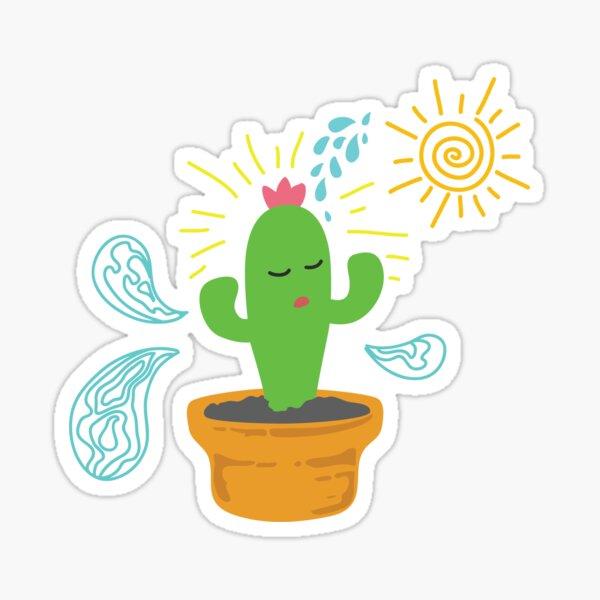 Erfrischter kleiner Kaktus Sticker