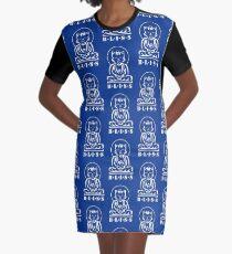 Bliss (Blue) Graphic T-Shirt Dress