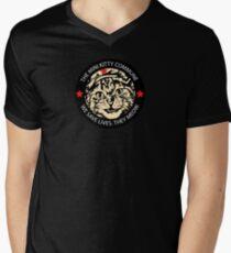 Kitten Me - Patch Black Mens V-Neck T-Shirt