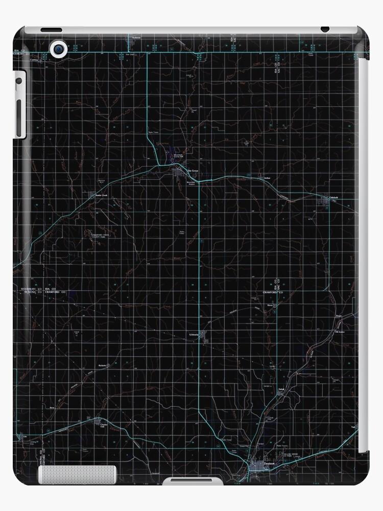 USGS TOPO Map Iowa IA Ida Grove 174848 1985 100000 Inverted by wetdryvac