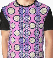 Circles on pink Graphic T-Shirt