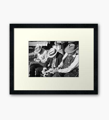 Three Old Men Framed Print