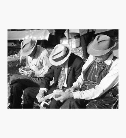 Three Old Men Photographic Print