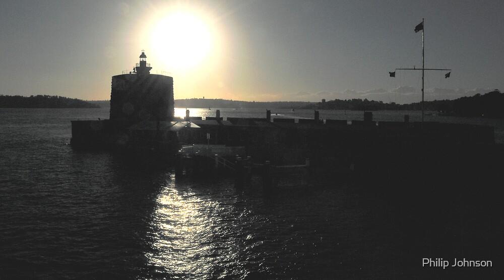 Solitary -Greeting The Sunrise- Fort Dennison, Sydney Harbour, Australia by Philip Johnson