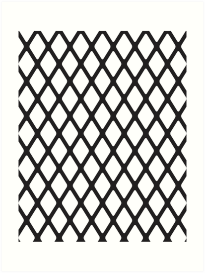 diamond pattern with fishnet effect for black background art prints