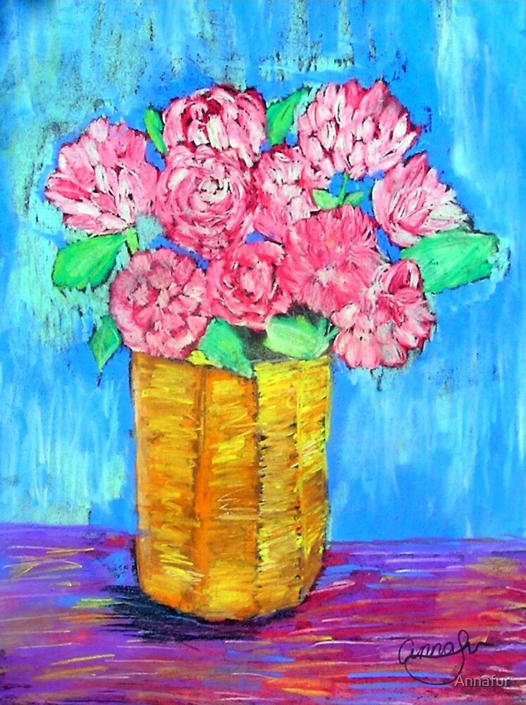 Pink Flowers  by Annafur
