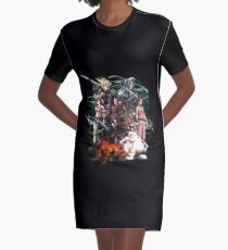 Final Fantasy VII - Collage Graphic T-Shirt Dress
