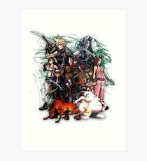 Final Fantasy VII - Collage Art Print