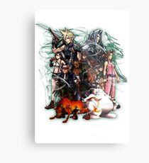 Final Fantasy VII - Collage Metal Print