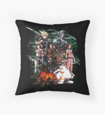 Final Fantasy VII - Collage Throw Pillow
