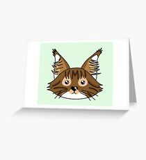 Main coon cat Greeting Card