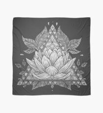 Grey Lotus Flower Geometric Design Scarf
