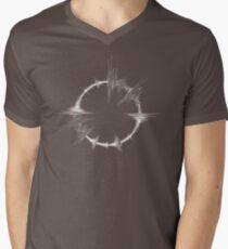 Amen Breakbeat Waveform Looped White Mens V-Neck T-Shirt