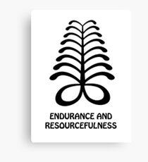 T-Shirt Adinkra Symbol: Endurance Canvas Print