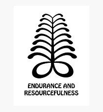 T-Shirt Adinkra Symbol: Endurance Photographic Print