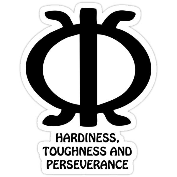 quottshirt adinkra symbol perseverancequot stickers by keith